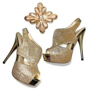 Charlotte Russe Gold Glitter